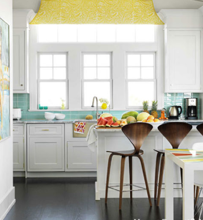 yellow kitchen canisters
