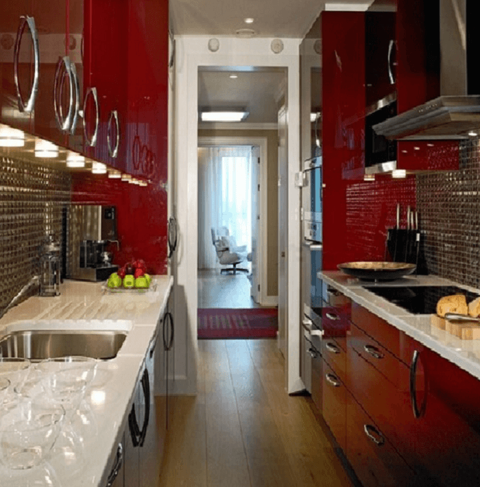metal kitchen designs