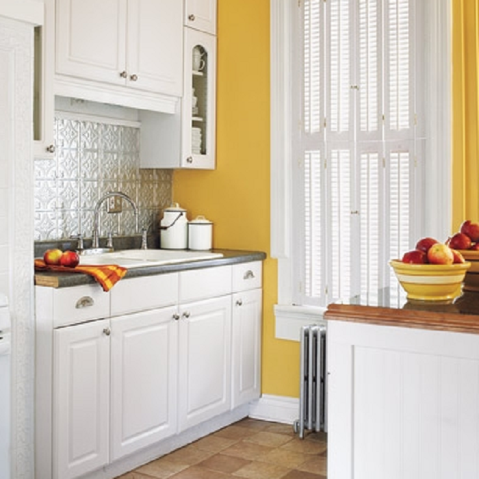 yellow kitchen items
