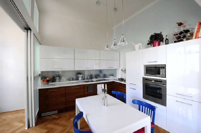 L Shaped Kitchen Small