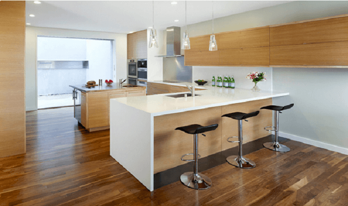 l shaped kitchen countertop