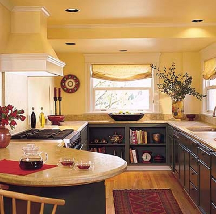 yellow kitchen tiles