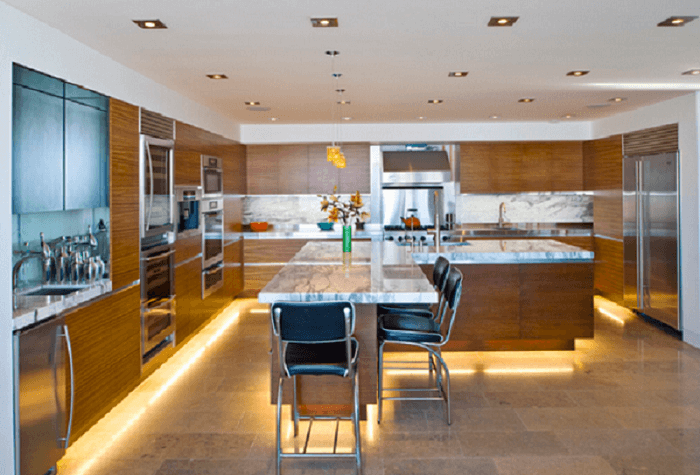 l shaped kitchen island