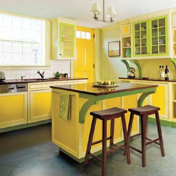 yellow kitchen table