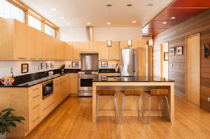 l shaped kitchen with island layout