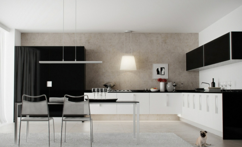 20 Fancy Design Ideas For Black And White Kitchen