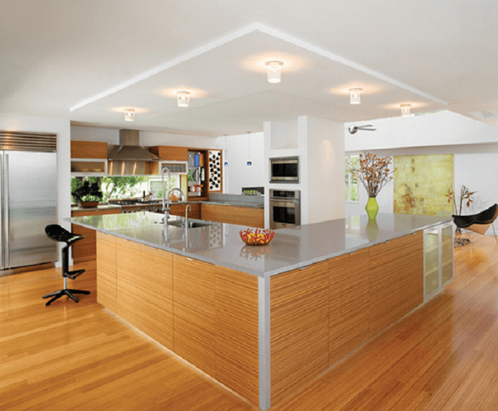 l shaped kitchen island with seating
