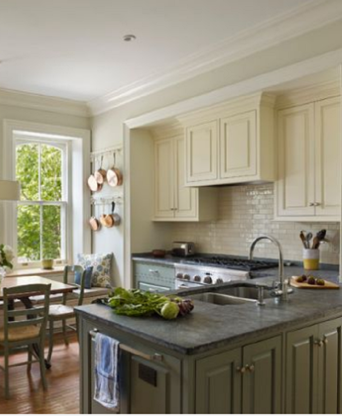 two tone kitchen cabinets painted