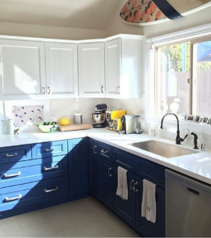 2 tone kitchen cabinets