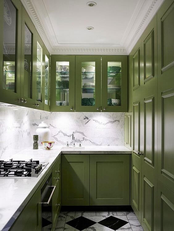 Olive Green Kitchen Cabinets Ideas