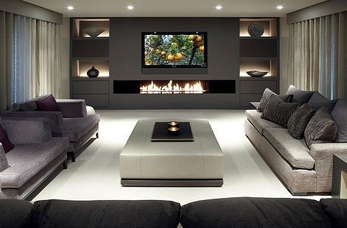 Basement Home Theater Contemporary Ideas