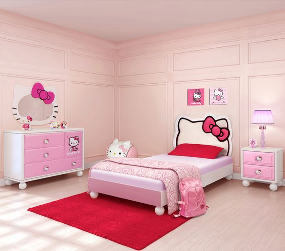 Hello Kitty Bedroom Decoration Concepts