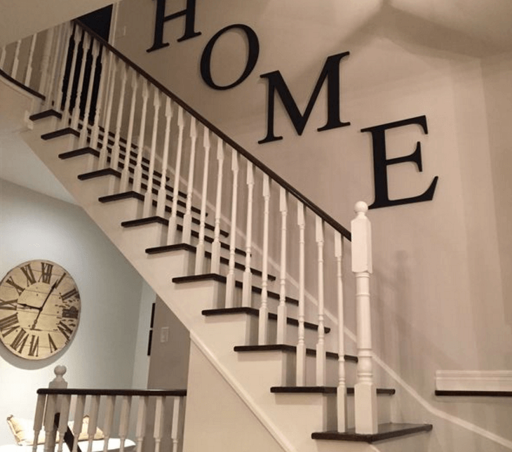 black and white stairs painting