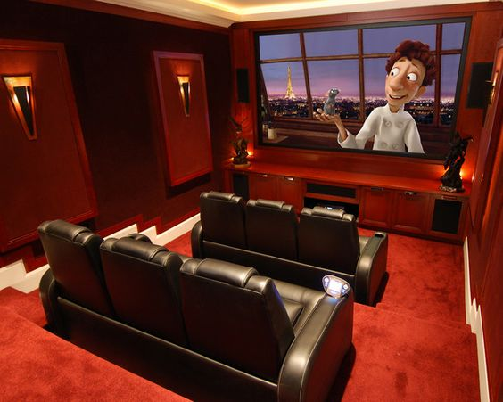 Simple Basement Home Theater Ideas