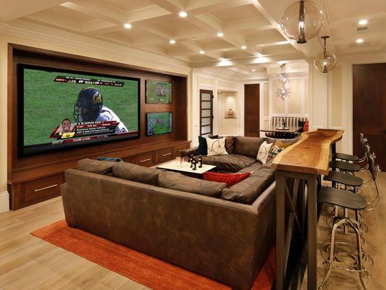 Basement Recreation Room Theater