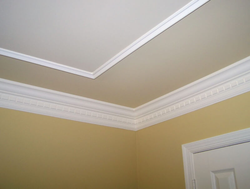 Faux tray Ceiling With Molding
