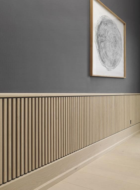Oak wainscoting panels
