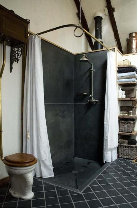 Steampunk Bathroom Curtain