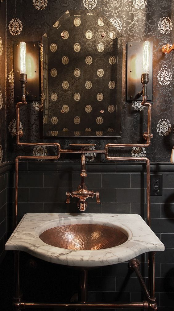 Steampunk Bathroom Lighting