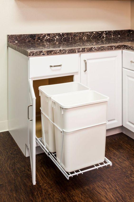 Tall Kitchen Trash Can Under Sink