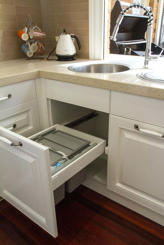 Trash Can For Under Sink Ideas
