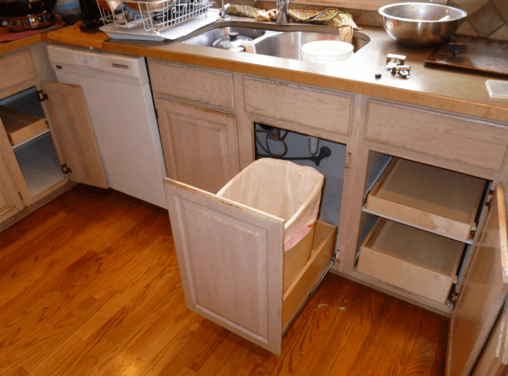 under kitchen sink garbage can 26 top inspirations for sink trash can to affect 8695