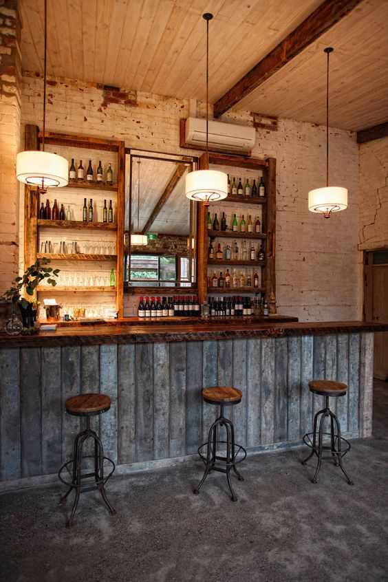 Basement Bar Rustic