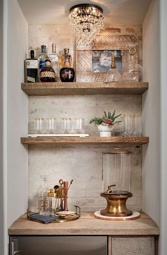 small basement bar