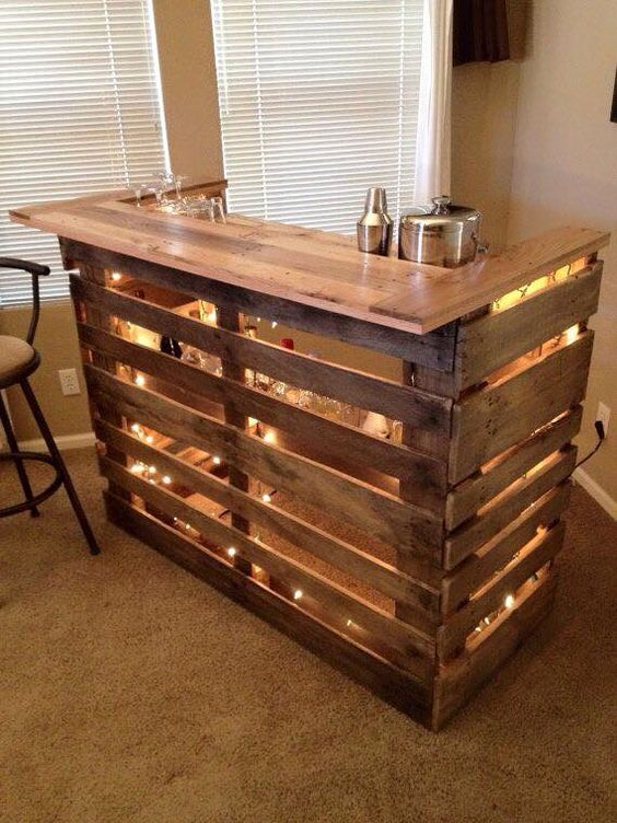 Basement Bar Pallets