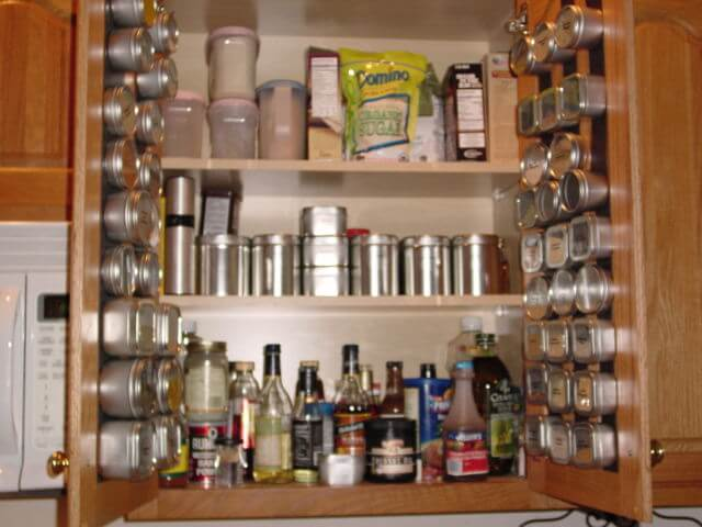 cabinet spice rack ideas