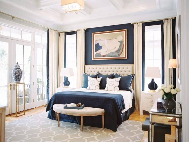 Navy Blue Bedroom Ideas, Light Blue & Dark Blue Bedrooms