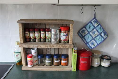 pallet spice rack ideas