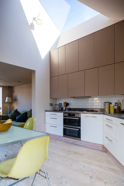 Double-stacked Modern Kitchen Cabinets