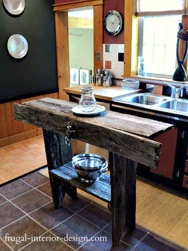 Unsophisticated Rustic Kitchen Island