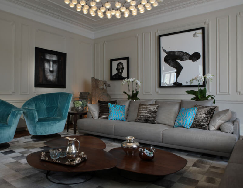 Artistic Gray Living Room Idea