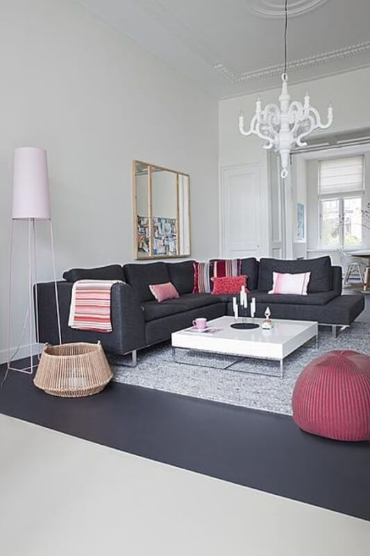 Gray Living Room Sofa