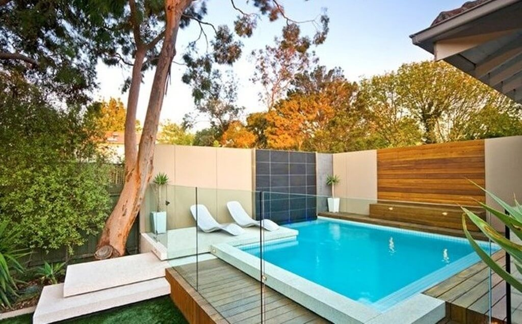 Glass Fenced Above Ground Pool
