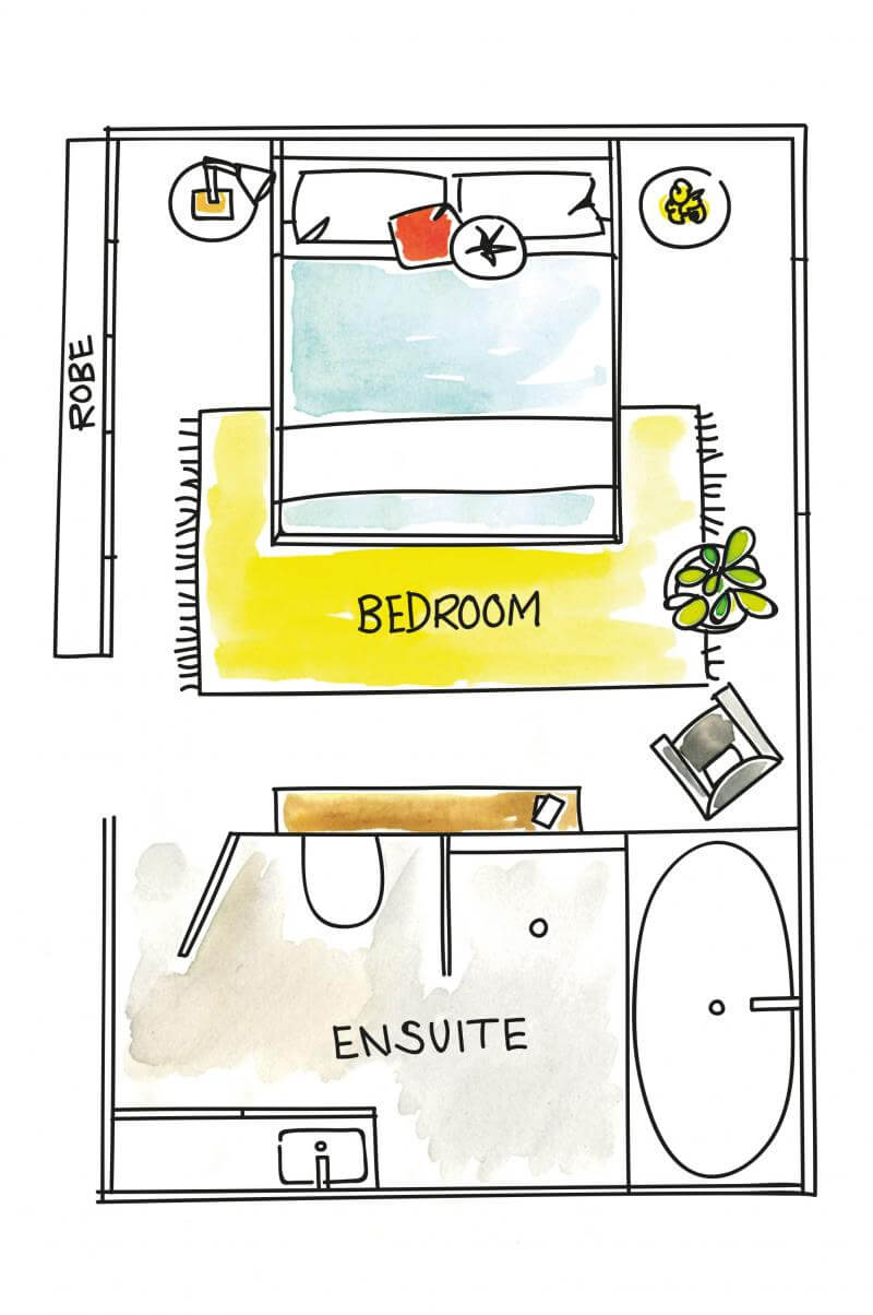 Layout Idea of Bedroom Suite