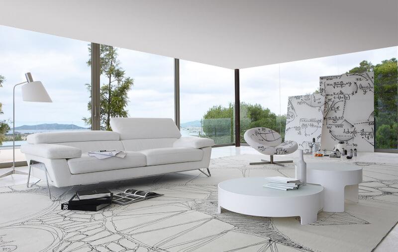 Splendid White Living Room
