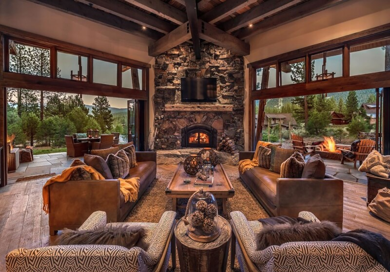 rustic style living room