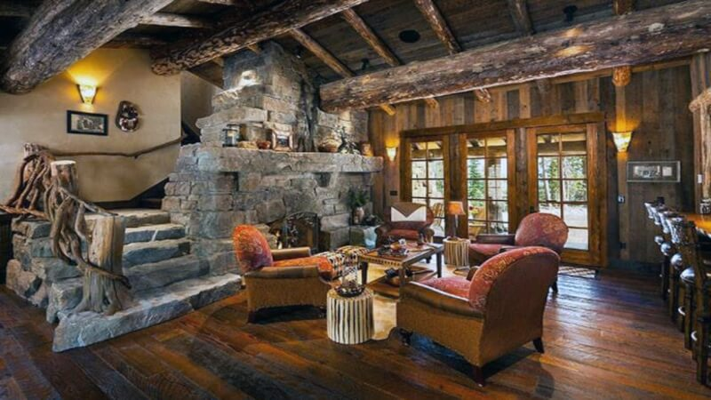 rustic living room tables