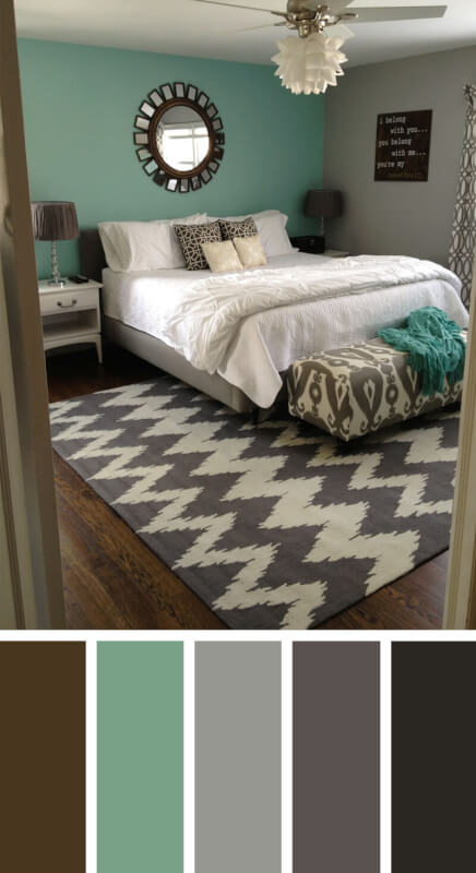 bedroom color schemes blue green