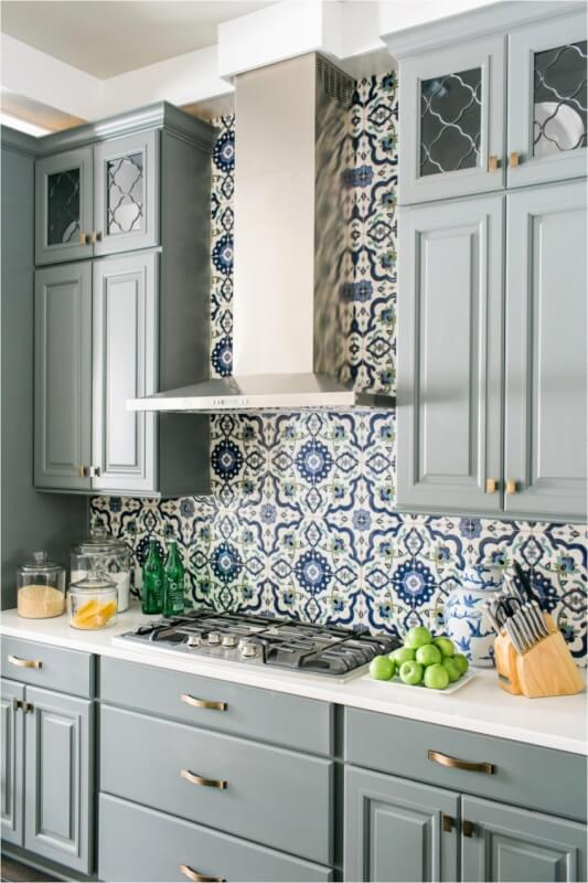 blue kitchen cabinets images