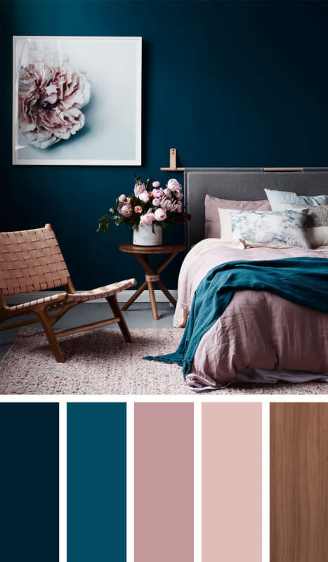 bedroom color schemes green