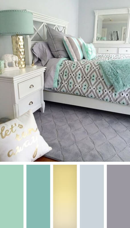 bedroom colour schemes grey carpet
