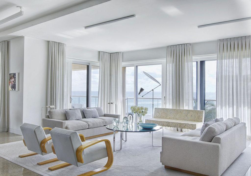 white living room curtain ideas