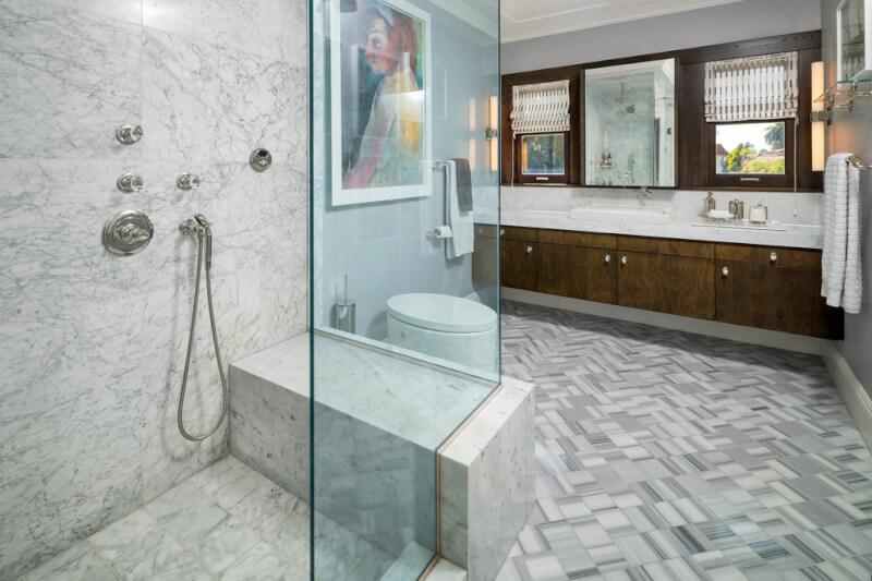 marble bathroom small