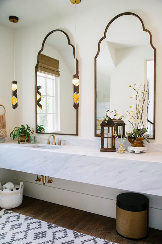 Moroccan Farmhouse Bathroom