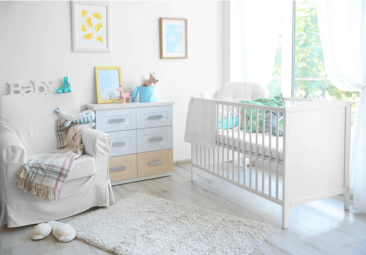 baby bed white