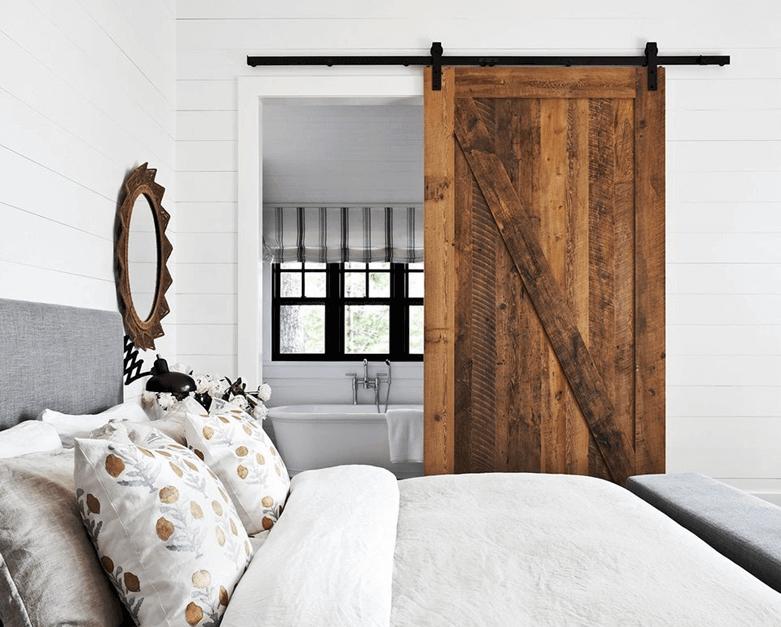 modern rustic bed